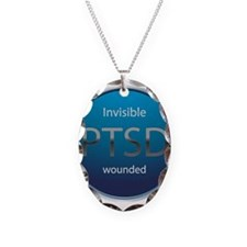 PTSD Necklace Oval Charm