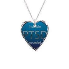 PTSD Necklace Heart Charm
