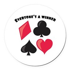 Everyone's A Winner Round Car Magnet