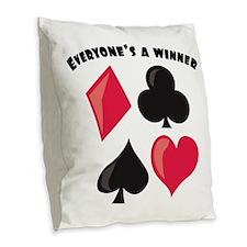 Everyone's A Winner Burlap Throw Pillow