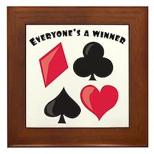 Everyone's A Winner Framed Tile