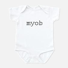 myob - mind your own business Infant Bodysuit