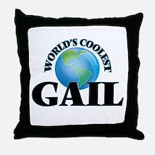 World's Coolest Gail Throw Pillow