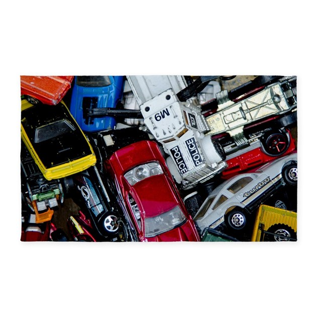Vintage Toy Trucks And Cars Area Rug By Birdwellphoto