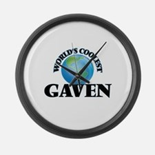 World's Coolest Gaven Large Wall Clock