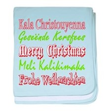 Merry Christmas Around The World 4 baby blanket