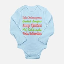 Merry Christmas Around The World 4 Body Suit