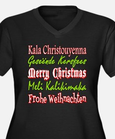Merry Christmas Around The World 4 Plus Size T-Shi