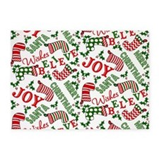 merry christmas joy 5'x7'Area Rug