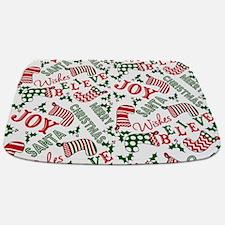 merry christmas joy Bathmat