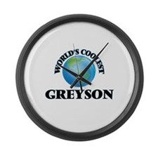 World's Coolest Greyson Large Wall Clock