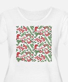 Merry Christmas Joy Stockings Plus Size T-Shirt