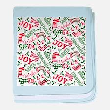 Merry Christmas Joy Stockings baby blanket