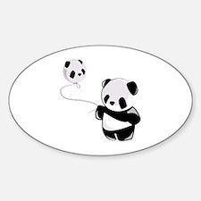 Panda With Balloon Decal