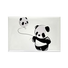 Panda With Balloon Magnets