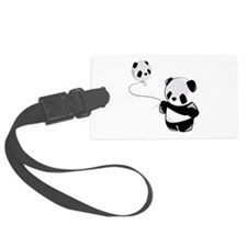 Panda With Balloon Luggage Tag