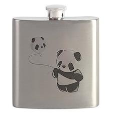 Panda With Balloon Flask