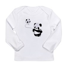 Panda With Balloon Long Sleeve T-Shirt