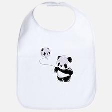 Panda With Balloon Bib