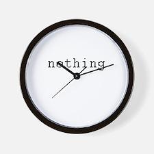 nething - anything Wall Clock