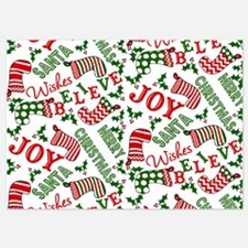 Merry Christmas Joy Stockings Invitations