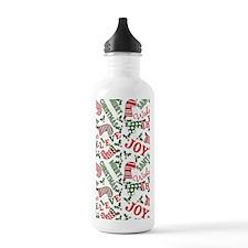 Merry Christmas Joy St Water Bottle