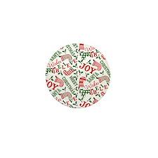 Merry Christmas Joy Stocking Mini Button (10 pack)