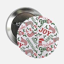 """Merry Christmas Joy Stocki 2.25"""" Button (100 pack)"""