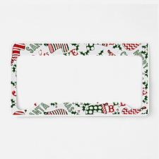 Merry Christmas Joy Stockings License Plate Holder