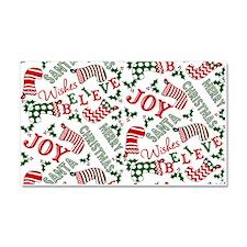 Merry Christmas Joy Stockings Car Magnet 20 x 12