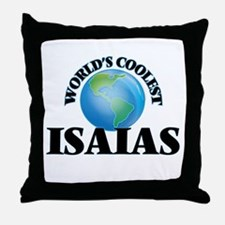 World's Coolest Isaias Throw Pillow