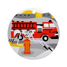 FIRE ENGINE_1 Ornament (Round)