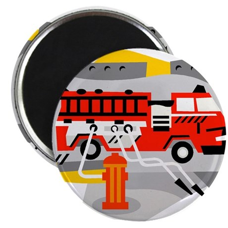 """FIRE ENGINE_1 2.25"""" Magnet (10 pack)"""