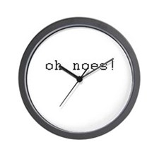 oh noes Wall Clock