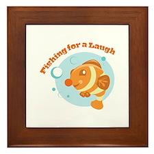 Fishing For Laugh Framed Tile