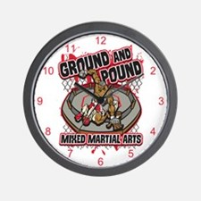 Pound and Ground MMA Wall Clock
