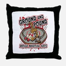 Pound and Ground MMA Throw Pillow