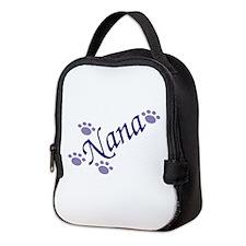 Nana With Paws Neoprene Lunch Bag