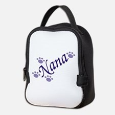 Nana With Paws Neoprene Lunch Bag