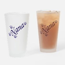 Nana With Paws Drinking Glass