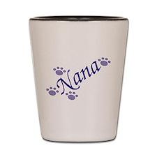 Nana With Paws Shot Glass