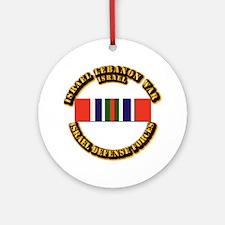 Israel - Lebanon War Campaign Rib Ornament (Round)