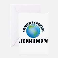 World's Coolest Jordon Greeting Cards