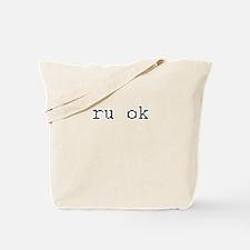 ru ok - are you ok? Tote Bag