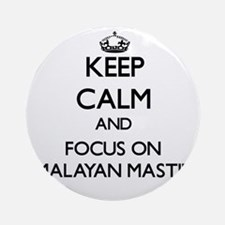 Keep calm and focus on Himalayan Ornament (Round)