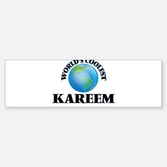World's Coolest Kareem Bumper Bumper Bumper Sticker