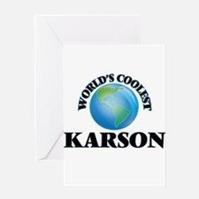 World's Coolest Karson Greeting Cards