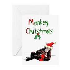 Christmas monkey Greeting Cards (Pk of 20)