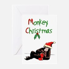 Cute Christmas monkey Greeting Cards (Pk of 20)