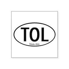 """Cute Toledo ohio Square Sticker 3"""" x 3"""""""